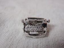 Figural Typewriter Sterling Silver Charm Mechanical Keys Move Vintage 60s Writer