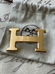 Hermes 32MM Gold Brushed Belt Buckle H Constance