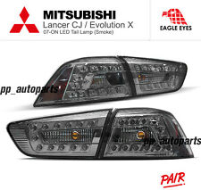 LED TAIL LIGHT SMOKE LAMP CJ Mitsubishi Evolution 10 EVO X LANCER EX 08-15 BLACK