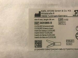 34310MS-D: STORZ CLICKLINE METZENBAUM SCISSOR INSERT W/OUTER SHEATH, 5MM X 36CM,