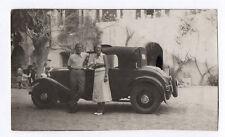 PHOTO ANCIENNE 1930 Voiture Automobile Auto Renault Citroën Peugeot Couple