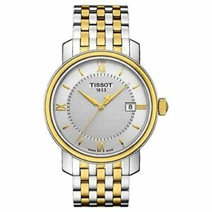 Tissot Swiss Made T-Classic Bridgeport 2 Tone Gold Plated Men's Watch