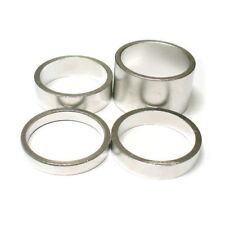 "gobike88 KREX silver alloy spacer, for 1"" headset, 4 in 1 sets 20/10/7/5mm, 296"