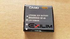 Original CASIO Exilim NP-40 camera battery NP40 EX digital NP 40 1230mAh JAPAN