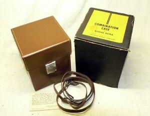 RARE Vintage Kodak Brown Leather Hard Case for EKTRA Camera. LikeNew in Orig BOX