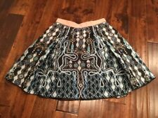 Peter Pilotto Multi-Color Crinkle A-Line Patterned Skirt, Size 6 (US) 10 (UK)