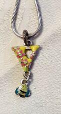 Brighton retired ABC initial V pink blue yellow enamel charm B229
