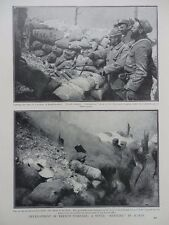 1915 EARLY TRENCH MORTAR BATTERY BY FRENCH USING EMPTY SHELL CASES WWI WW1