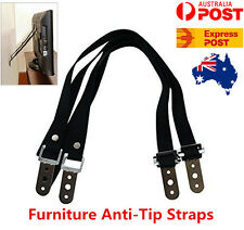 2x Anti-Tip Furniture Screen TV Safety Straps For Saver Keep Your Child Safe
