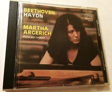 MARTHA ARGERICH Beethoven Haydn piano concertos CD 1984 1st Denon 35C37-7322