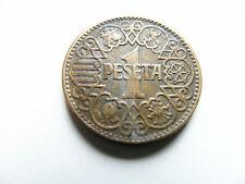 1 Peseta Spanien  1944  Umlaufmünze guter Zustand