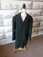 Da Uomo diversi Vintage Verde Tweed Cappotto Invernale 48 petto Burton Lana Cashmere
