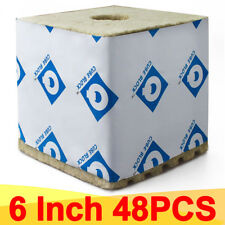 "Rockwool Blocks with Hole, 6""x 6""x 6"" Quick Drain Biggie Block, Rockwool Cubes"