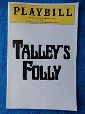 Talley's Folly - Zellerbach Theatre Playbill - January 1983 - Jerry Zaks