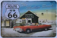 Route 66 Garage Rustic Look Vintage Tin Signs Man Cave, Shed & Bar Sign
