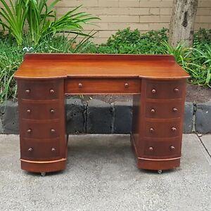 Antique Colonial Australian Cedar and Mahogany Desk Circa 1890