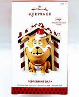 Hallmark Keepsake Ornament PEPPERMINT BARK 2013 Bulldog motion-activated sound