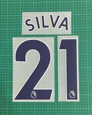 SILVA #21 2017-2019 Player Size Premier League Blue Nameset Man City