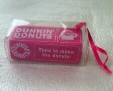 Dunkin Donuts Retro Donut Box Christmas Holiday Ornament 2010 New