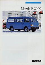 Mazda E 2000 4x4 Prospekt 1/87 Autoprospekt Broschüre 1987 brochure Transporter