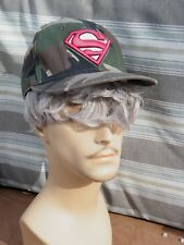 SUPERMAN CAMO Snap back Embroidered Baseball Cap/Hat Exc.+++ Cond.