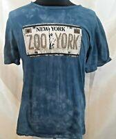 New York Zoo York t-shirt Large cotton blue tie dye look short sleeve tee