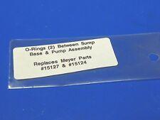 Meyer Snow Plow ,1-meyer 15127,1-meyer 15124,o-rings Between Sump Base & Pump