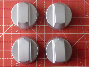 4 X SILVER KNOB KITS TO FIT ZANUSSI OVEN/HOB/COOKER WITH INSTRUCTIONS