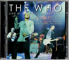 WHO live at the royal albert hall 2CD PROMO Vedder Weller Gallagher Kelly Jones