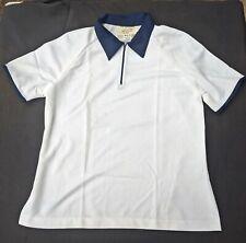 Womens Utility Polo T Shirt Retro Australian Defence Surplus Sz: 20 White