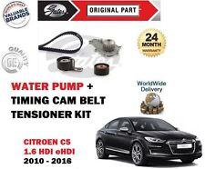 FOR CITROEN C5 1.6 HDI eHDI 8v 2010-> TIMING CAM BELT TENSIONER KIT + WATER PUMP