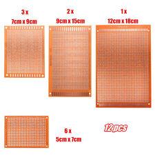 KIT Prototyping PCB Printed Circuit Board Prototype Breadboard Stripboard 12pcs
