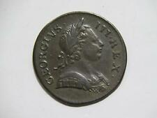 GREAT BRITAIN 1772 HALF PENNY BRITANNIA GEORGE III LOW GRADE WORLD COIN #K 🌈⭐🌈