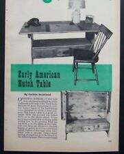 Early American HUTCH TABLE Settle How-To Build PLANS
