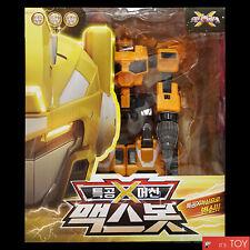 MINIFORCE X MAXBOT Max Bot Yellow Ranger Transformer Robot Drill Machine Car Toy