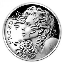 2014 FREEDOM GIRL PROOF SILVER SHIELD .999 PURE - ORIGINAL HEIDI WASTWEET DESIGN