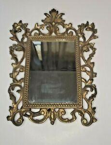 Ornate Victorian Brass  Easel Back Mirror / Frame