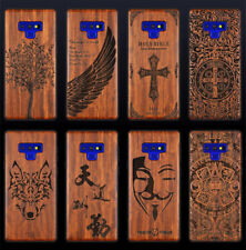 Protect Cover Luxury Natural Wood Carved TPU Phone Case For Samsung Galaxy Note9