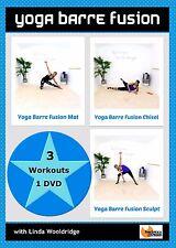 Barre Yoga Fusion EXERCISE DVD Barlates Body Blitz YOGA BARRE FUSION 3 Workouts