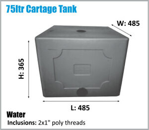 WATER TANK. 75LTR. POTABLE WATER. ASK FOR FREIGHT PRICE. CAMPING UTE STABLE