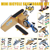 Mini Finger Skateboard Deck Fingerboard Ramps Park Bicycle Parts Kids Toy Gift