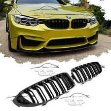 FRONT GRILLS BLACK-GLOSS FOR BMW F32 F33 F36 F82 M4 LOOK SERIES 4 SPOILER NEW