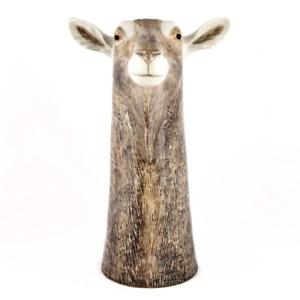 Quail Ceramic  Flower Vase   Toggenburg Goat