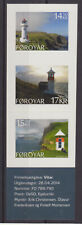 Faroe Islands 2014 Lighthouses, Set of 3 Self Adhesives From Booklet, Mnh/Unm