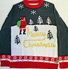 Tipsy Elves Christmas Mens Santa Yellow Snow Ugly Christmas Sweater Large L