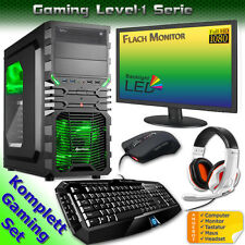 PC Gioco Set COMPUTER,Monitor,Tastiera,Mouse,Cuffia Computer Completo WINDOWS 7