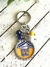 Custom Cheerleader Keychain - PERSONALIZED Cheer Coach Key Ring - Any Color
