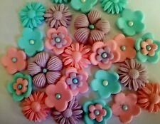 Unicorn flowers edible sugar paste cake topper cupcakes birthday