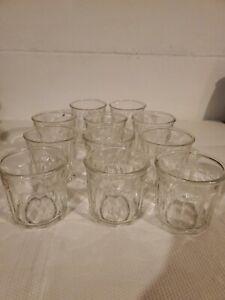 Vintage Luminarc 500 Working Glass Tumbler - 10 Panel Lot of 11 Short Glasses