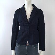J Crew : 2 : Schoolboy Navy Blue Blazer Jacket Career Deconstructed XS Cotton